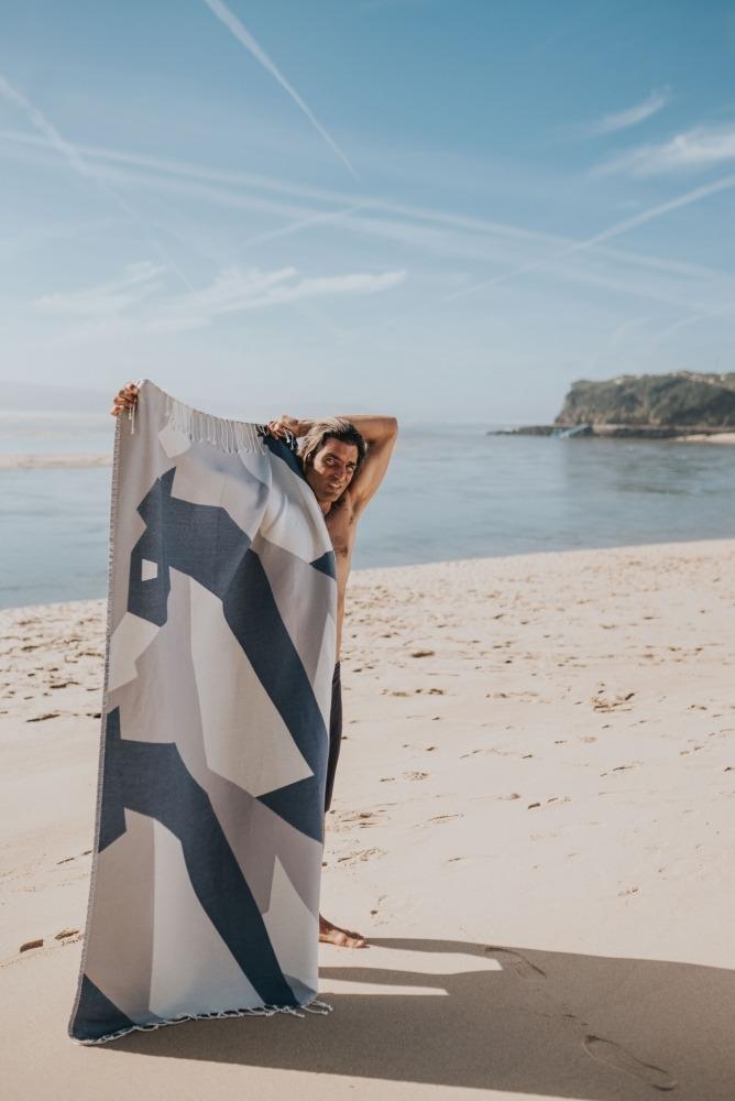 WWF futah beach towels single Hippocampus Single Towel Indigo Blue Lookbook 1 DSC08319