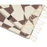 futah beach towels single Guadiana Single Towel Chestnut Detail_min