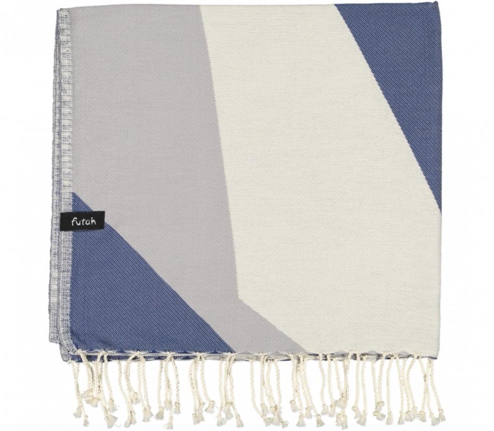 futah beach towels single Hippocampus Single Towel Indigo Blue