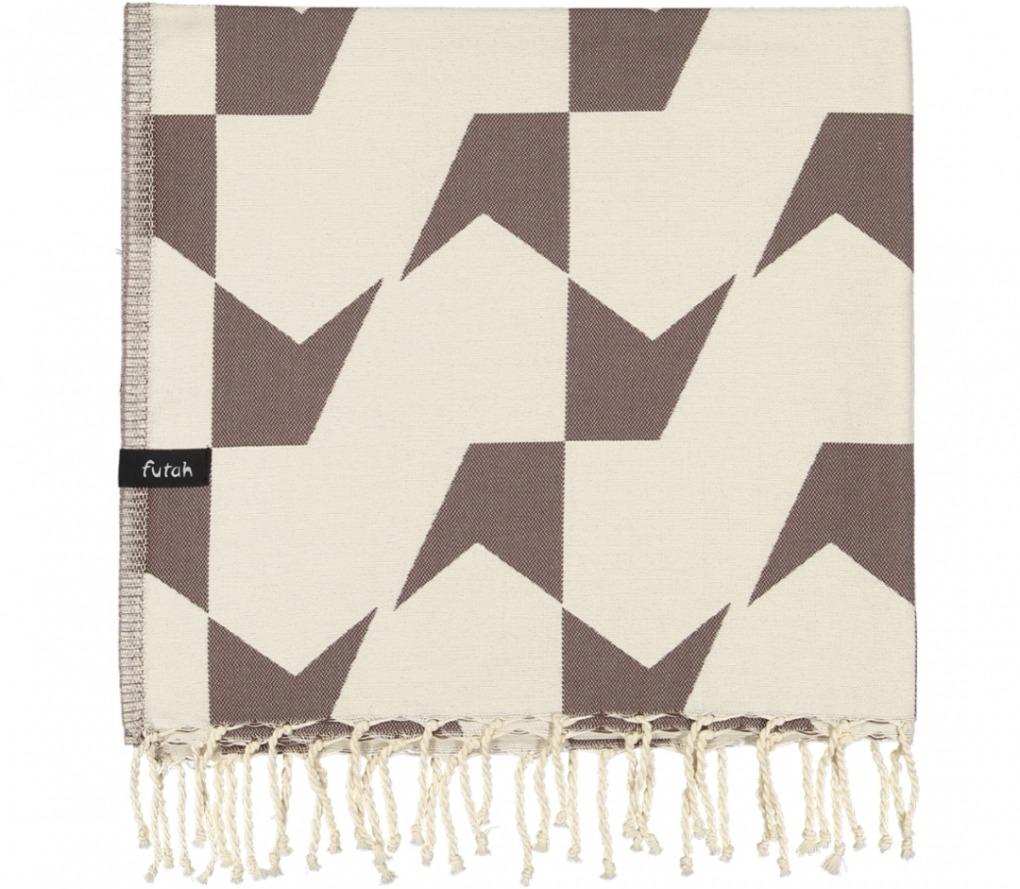 futah beach towels single Guadiana Single Towel Chestnut Folded
