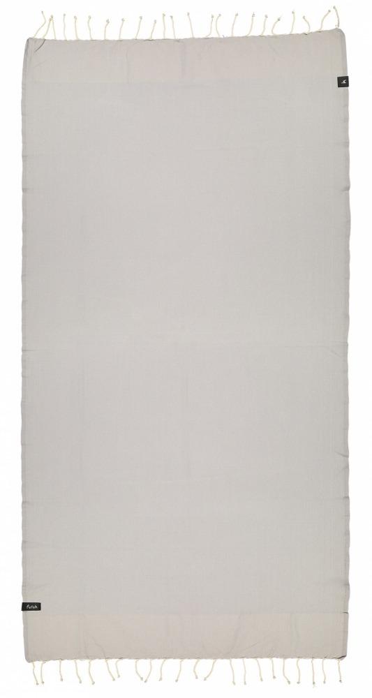 futah beach towels single Ericeira Single Towel Opal Grey Front